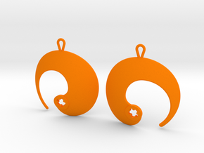 Enso No. 1 Earrings in Orange Processed Versatile Plastic