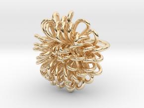 Ring 'Wiener Blume', Size 7.5 (Ø 17.7 mm) in 14k Gold Plated Brass