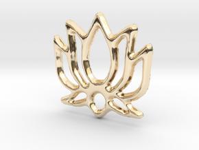 Lotus Pendant/Charm - 16mm in 14K Yellow Gold