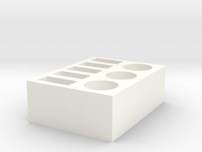 USB and Miscellaneous Desktop Organizer  in White Processed Versatile Plastic