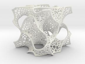 Gyroid Math Art in White Natural Versatile Plastic