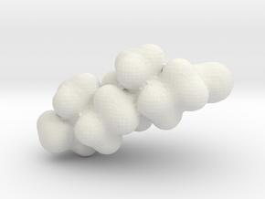 Testosterone electrostatic potential map in White Natural Versatile Plastic