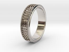 Ø0.666 inch/Ø16.92 Mm Detailed Ring in Platinum