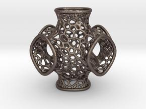 Schwarz Optimized Geometry in Polished Bronzed Silver Steel