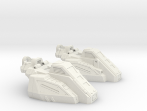 Combat Team Combiner Slippers in White Natural Versatile Plastic