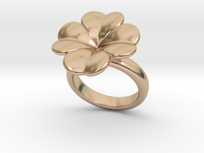 Lucky Ring 23 - Italian Size 23 in 14k Rose Gold Plated Brass