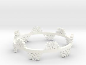 Snow Flake Bracelet in White Processed Versatile Plastic