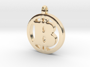 Bitcoin Pendant in 14k Gold Plated Brass