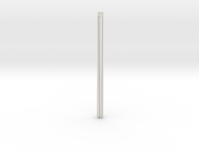1:96 scale Navy whip antenna - Square (35 Foot) in White Strong & Flexible