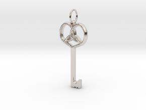 Friggjarlykill  - Key of Frigg in Rhodium Plated Brass