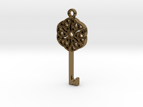 Friggjarlykill #2  - Key of Frigg in Polished Bronze