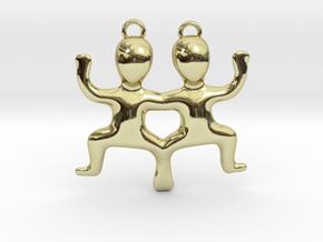 Gemini Pendant in 18k Gold Plated Brass