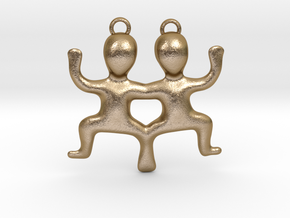 Gemini Pendant in Polished Gold Steel