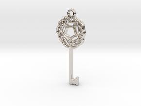 Friggjarlykill #3  - Key of Frigg in Rhodium Plated Brass