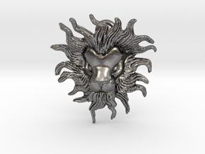 Leo Pendant in Polished Nickel Steel