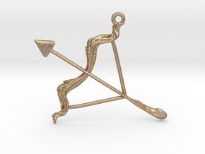 Sagittarius Pendant in Matte Gold Steel
