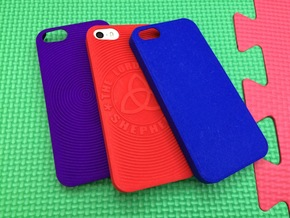 PS.23 Case - Plain ( iPhone 5, 5S & SE ) in Blue Strong & Flexible Polished