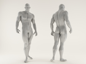 2016020-Strong man scale 1/10 in White Processed Versatile Plastic