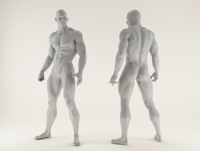 2016018-Strong man scale 1/10 in White Processed Versatile Plastic