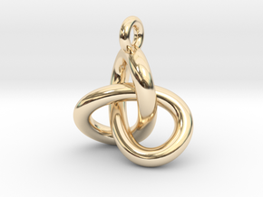 Trefoil Knot Pendant in 14k Gold Plated Brass