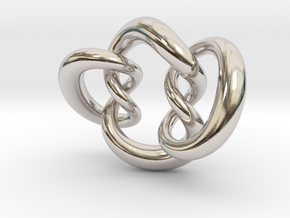 Knot A in Rhodium Plated Brass