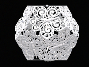 Butterfly Dodecahedron 02 in White Natural Versatile Plastic
