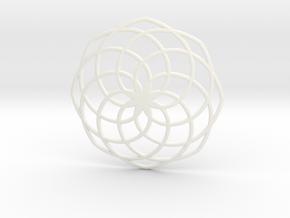 Classic Spiral Pendant in White Processed Versatile Plastic