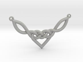 Celtic Heart Knot Pendant in Aluminum