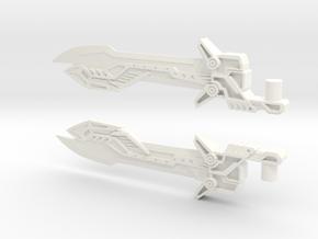 Voyager Evasion Mode Optimus Prime Sword in White Processed Versatile Plastic