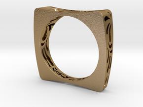 Vitruvio Bangle  in Polished Gold Steel