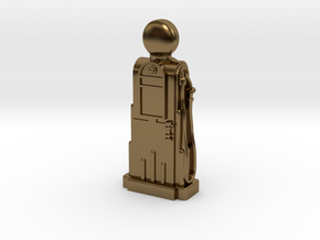 28mm/32mm Scale - 1940's/1950's Petrol Pump  in Polished Bronze