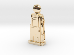 28mm/32mm Scale - 1940's/1950's Petrol Pump  in 14k Gold Plated Brass