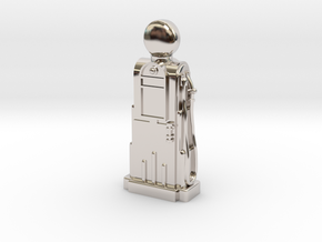 28mm/32mm Scale - 1940's/1950's Petrol Pump  in Rhodium Plated Brass