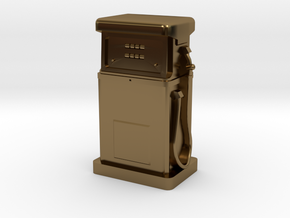 28/32mm Gauge - 1980's Petrol Pump in Polished Bronze