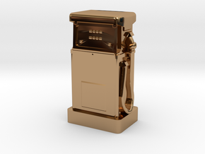 N Gauge - 1980's Petrol Pump in Polished Brass