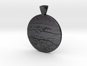 Jupiter Pendant in Polished and Bronzed Black Steel