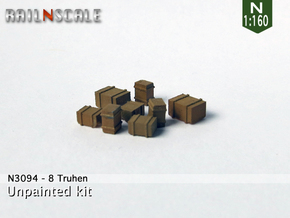 8 Truhen (N 1:160) in Smooth Fine Detail Plastic
