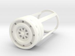 Blade Plug - Plasma in White Processed Versatile Plastic