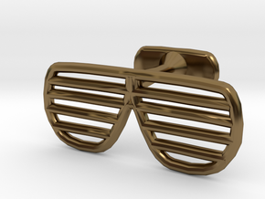 Sunglasses Cufflink in Polished Bronze