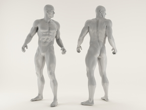 2016027-Strong man scale 1/10 in White Processed Versatile Plastic