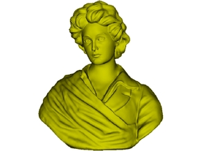 1/9 scale Percy Bysshe Shelley bust in Smooth Fine Detail Plastic