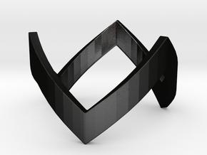 WonderWoman THK Ring in Matte Black Steel: 8 / 56.75