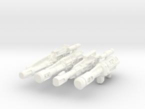 Combiner Wars Stunticon Deluxe Weapons in White Processed Versatile Plastic