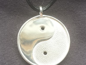 Yin Yang Pendant in Polished Silver