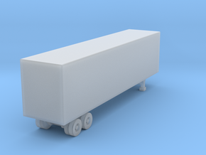40 Foot Box Trailer - Z scale in Frosted Ultra Detail
