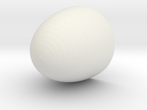 Nose Cone 7.5x7.0x0.2 cm in White Natural Versatile Plastic
