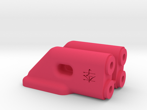 B5m Rear Wing Mount in Pink Strong & Flexible Polished