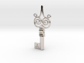 Friggjarlykill #4  - Key of Frigg in Rhodium Plated Brass