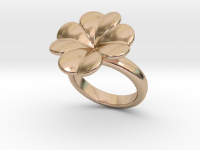 Lucky Ring 31 - Italian Size 31 in 14k Rose Gold Plated Brass