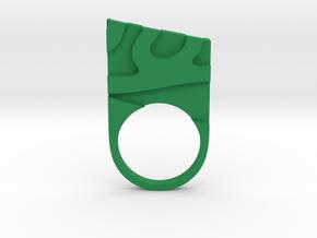 Solid geometry ring in Green Processed Versatile Plastic